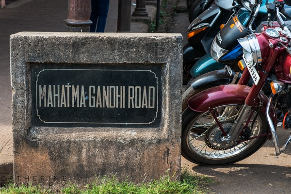 Mahatma Gandhi Road sign | Catherine Bailey Photography