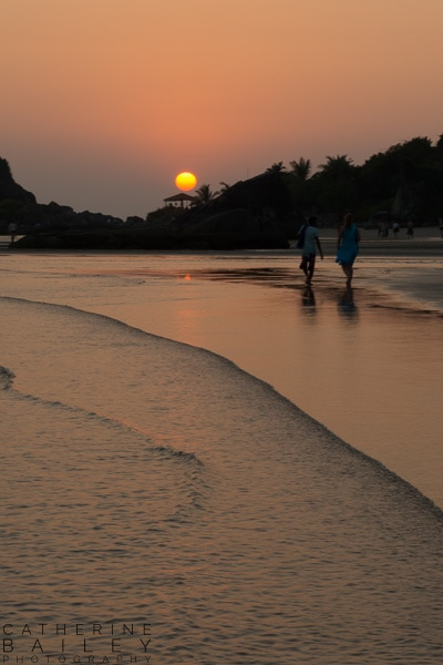 Sunset at Palolem Beach | Catherine Bailey Photography