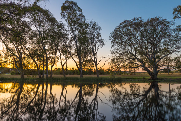 Sundown at Ess Lagoon, Casterton