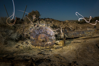 Light painting old junk on Lake Tyrrell | Catherine Bailey Photography