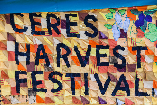 CERES Harvest Festival sign | Catherine Bailey Photography