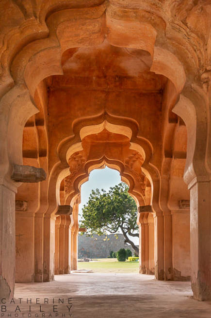 Lotus Mahal in Hampi | Catherine Bailey Photography