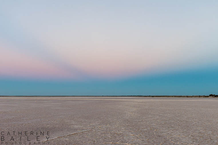 Twilight at Lake Tyrrell | Catherine Bailey Photography