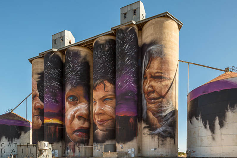 Silo Art Trail - Sheep Hills | Catherine Bailey Photography